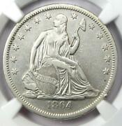 1864-s Seated Liberty Half Dollar 50c - Certified Ngc Xf Detail - Rare Coin