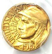 1915-s Panama Pacific Gold Dollar G1 Coin - Pcgs Uncirculated Details Unc Ms