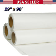 29 X 98´ Roll White Color Printable Heat Transfer Vinyl For T-shirt Fabric New