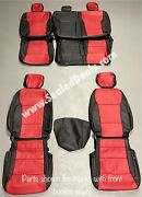 Katzkin 2021 Ford F150 Super Cab Xl Xlt Stx Black And Red Leather Seat Covers