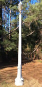 Antique Cast Iron Street Lamp Post Or Pole With Globe 11andrdquo Tall Without Globe