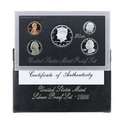 1995 Us Mint Silver Proof Set 90 Silver Kennedy Black Box - Ogp 5 Coins
