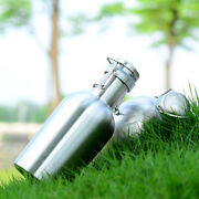 Beer Growler Bottle With Flip Top 64 Oz Stainless Steel Camping Hip Flask