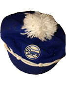1950's Dodgers Baseball Blue/white Winter Cap/beanie Collectible Some Spots