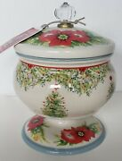 The Pioneer Woman Holiday Cheer Christmas Tree 5andrdquo Candy Dish With Lid Nwt