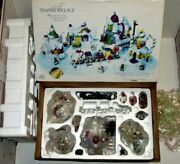 Complete W/ Lights In Box 16pc Sears Teapot Village Christmas Merry Making Mice