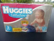 Extremely Rare Box Vintage Diapers 1992-2002 Huggies Ultratrim Size 5 - 128 Ct