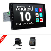 Obd2+cam+10.1 2 Din Android 10 Car Stereo Mp5 Player Radio Gps Wifi Usb 2+32gb