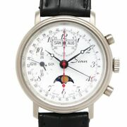 Sinn Automatic Men Triple Calendar Moon Phase Menand039s 6006 1990and039s Watch Tk2123