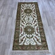 Yilong 2.5and039x6and039 Handknotted Silk Long Hallway Carpet Gallery Rug Runner Y098b