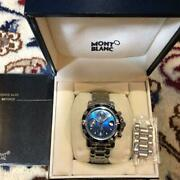 Menand039s Watch Sports Chronograph Limited Blue Dial Boxed