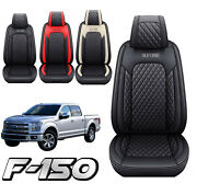 Car Seat Covers Pu Leather Front+rear Set Cushion For 2009-2021 Ford F150 Truck