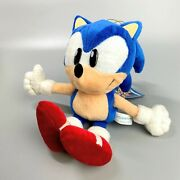 Rare 1997 Sonic The Fighters Sonic Plush Doll Toy Sega Sonic The Hedgehog