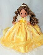 💛disney Classic Belle In Yellow Gown Precious Moments Doll Beauty And The Beast