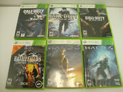 Lot Of 6 Xbox 360 Call Of Duty Halo Battlefield Bundle Games Black Ops Ghost