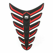 Fish Bone 3d Sticker Gas Oil Fuel Tank Pad Protector Decal Pour Yamaha Bmw Red