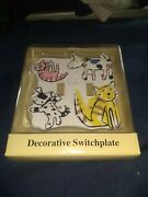 Jc Penny Decorative Cats And Dogs Double Switchplate Brand New No Hardware