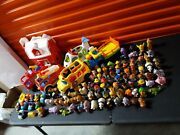 Lot Of Over 100 Fisher Price Little People Animals Barn Plane Firetruck Bus Euc