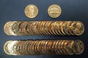 1976-s Proof Lincoln Full Roll Of 50 Pennyandrsquos
