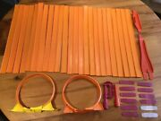 1960's Mattel Hot Wheels Track Lot - 26 Straights,12 Connectors, 2 Loops And More
