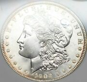 1903-o 1 Morgan Pcgs Ms 64 Cac Approved