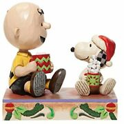 Jim Shore Peanuts Charlie Brown And Snoopy With Hot Cocoa Figurine 6006937