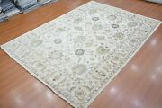 9and039x12and039 Rug | Hand Made Hand Knotted Beige-rust Area Rug