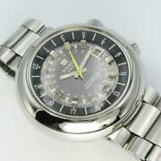Tisso T12 Navigator At Ss 3 Needles Automatic Overhauled Vintage Beauty Men Auth