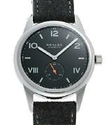 Nomos Nomos Club 38 Cl1a1g238cp New Black Men's Ss Leather Hand-winding
