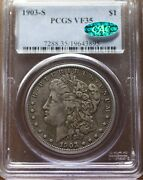 1903-s 1 Morgan Pcgs Vf 35 Cac Approved Nice Mid-grade No Distractions