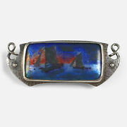 Arts And Crafts Silver And Enamel Plaque Brooch Murrle Bennett And Co