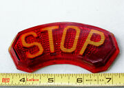 Glass Vintage Red Stop 🛑 Lens Early Auto Truck Tail Lamp Brake Light