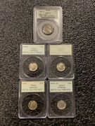 5 Pcgs Silver Coin Samples 1963 1964 Dimes And 1943 S War Nickel Ogh And Rattlers