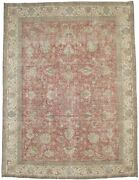 Handmade Antique Muted Distressed 9and0397x12and0396 Oriental Area Rug Home Decor Carpet