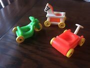 Fisher Price Little People Vintage Children Toys Wagon Tricycle Riding Horse