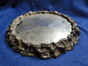 Silver Plated Wedding Cake Stand, Antique Victorian 1860, Medium Size, Marked,