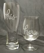 Kate Spade Lenox Crystal Two Of A Kind His And Hers Wine And Beer Glass Set