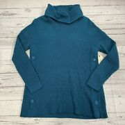 St Johns Bay Regal Teal Knit Sweater Womenandrsquos Size Small