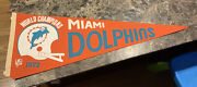 """Miami Dolphins 1972 World Champions Vintage Full Size Nfl Pennant Football 29.5"""""""