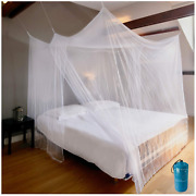 Luxury Mosquito Net For Bed Canopy Xl Tent Double To King 85x77 Inch