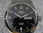 Ball Watch Engineer Ii Ohio Automatic Day Date Nm2026c-s5j-bk Ss Black With Box