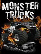 Monster Trucks Stress Relief Adult Coloring Book 25 By Coloring Books