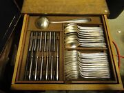Silver Plated Canteen Of Cutlery In A Box Art Deco 1920 Nice Service
