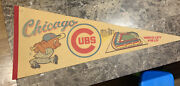 Chicago Cubs Wrigley Field Vintage Full Size Pennant Baseball Mlb 1960's