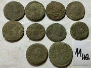 Beautiful Uncleaned High Quality Ancient Roman Coins 10pcs