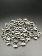 Very Rare Art Deco Pools Of Light Necklace Rock Crystal Undrilled Orbs 40 Beads