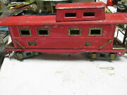 [10] Antique American Flyer Caboose With Light, All Steel,
