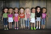 Repainted bratz Dolls Lot, Upcycled, Recycled, By Artist Julia Bali