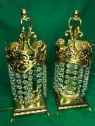 Vintage Unique European Pair Of Table Lamps In Great Condition