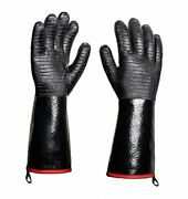 Extreme Heat Resistant Bbq Grill Gloves Mitts 932℉ – Neoprene 14 Inches